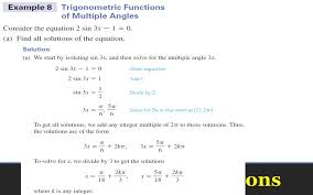 22 trigonometric equations