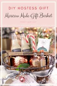 gift basket with copper mugs diy moscow mule