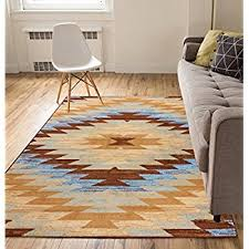 thin area rugs carly medallion blue 9x13 93 x 126 southwestern thin wool area rugs