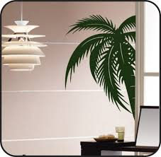 palm tree wall stickers: large palm tree wall decal sticker removable vinyl modern art decor