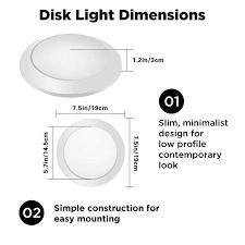 Slim Disk Light Led Disk Light