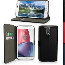 motorola g4 case. pu leather skin wallet case for motorola moto g4 (4th gen) \u0026 plus flip cover | ebay