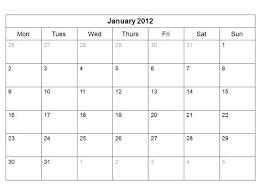 Printable Blank Monthly Calendar Blank Monthly Calendar Template Perfect Photos Printable
