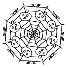 Disegni Da Colorare Mandala Di Halloween Morning Kids