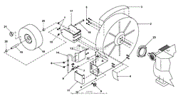 bunton bobcat ryan lb1401 00 01 optimax blower parts diagram for housing assembly