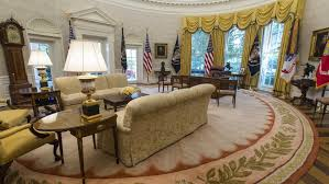 filethe reagan library oval office. Reagan Oval Office. The Office Has Been Redecorated By President Trump H Filethe Library A