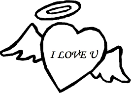 Heart With Angel Wings Coloring Page Elegant Love Heart Colouring