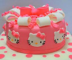 Hello Kitty Cake 2 Tier Birthday Cake Sherbakes