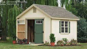 what are the most common storage shed sizes