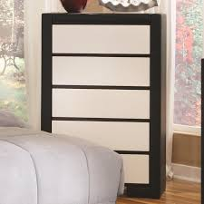Kimball Bedroom Furniture Coaster 203335 Black Leather Chest Of Drawers Steal A Sofa