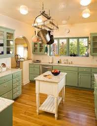 an original 1920 s kitchen nook complete with pendant light