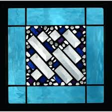 geometric stained glass patterns sky blue border geometric stained glass panel artistic artisan designer stain glass window sacred geometry stained glass