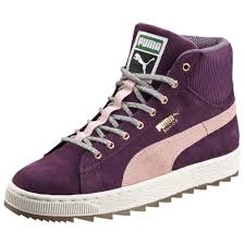 puma high tops womens. puma suede rugged modern heritage women\u0027s high tops (italian plum) | sneakers womens