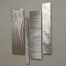 silver metal wall art modern metal wall