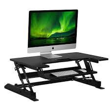 adjustable standing desk converter. Contemporary Converter MountIt Sit Stand Desk Converter Height Adjustable Standing Desk 36 X On Converter