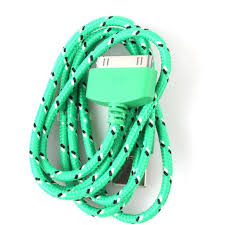 New Green Braided Fabric <b>USB</b> Data Sync Charger <b>Cable</b> Cell ...