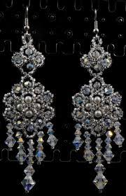 preciosa crystal beaded bridal chandelier earrings crystal beaded earrings crystal beaded wedding chandelier earrings