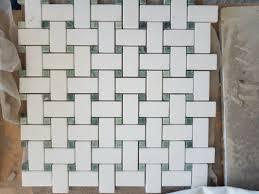Badezimmer Marmor Mosaik Fliesen Chevron Muster Sgs Standard
