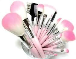 pink makeup brushes. amazon 16 piece pink synthetic vegan makeup brush set with bag brushes p