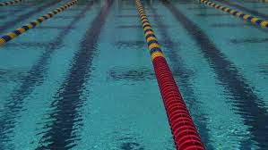 swimming pool lane lines background. Buoys Mark Lap Lanes In A Swimming Pool. Stock Footage Video 4380188 | Shutterstock Pool Lane Lines Background