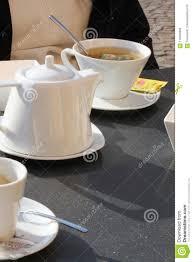 Tea Hot Service Stock Photo Image Of Kitchen Table 118500366