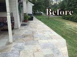 replacing the cement between flagstones