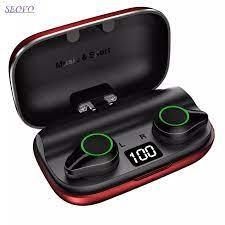 Seovo 4000mAh kulaklık TWS kablosuz bluetooth kulaklık ücretsiz el bluetooth  gürültü iptal bluetooth kulaklık şarj kulakiçi Bluetooth Earphones &  Headphones
