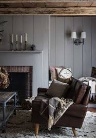 grey panelled walls via jersey ice cream co - Mad About The House