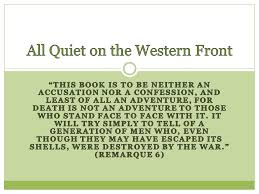 All Quiet On The Western Front Ppt Download Enchanting All Quiet On The Western Front Quotes