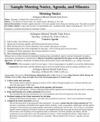 Meeting Agenda Minutes Template 9 Agenda Minutes Templates Free Word Pdf Format Download Free