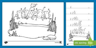 Kids color and cut out a spiral snake, exercising their fine motor skills on this prekindergarten arts and crafts and coloring worksheet. Five Little Speckled Frogs Coloring Pages Teacher Made