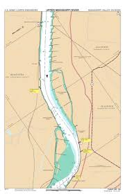 Army Corps Of Engineers Lower Mississippi River Navigation Charts Chart 136 Mississippi River Miles 136 130 Us Army Corps