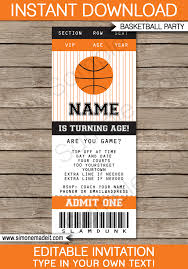 Concert Ticket Invitations Template Interesting Basketball Ticket Invitation Template Blackorange Projects To