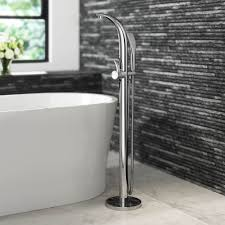 free standing bath filler taps chrome mixer faucet hand held shower head