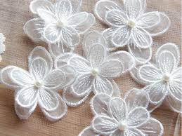 Floral <b>Lace Applique</b> Embroidery, <b>Lace Flowers</b>, 3D <b>Lace Flower</b> ...