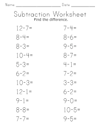 Free Printable Subtraction Worksheets Kindergarten Math For Addition ...