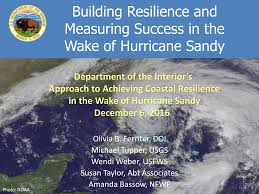 Building Resilience and Measuring Success in the Wake of Hurricane Sandy
