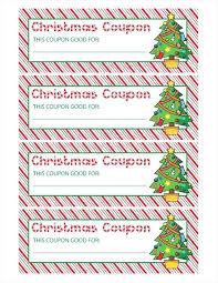 Printable Christmas Certificates printable Printable Christmas Voucher Template Coupon Templates 99