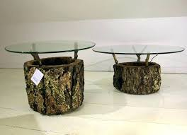 tree trunk coffee table side engaging image of unique living room furniture with glass top base tree trunk coffee table