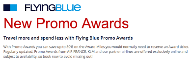 Air France Flying Blue Award Chart Air France Klm Flyingblue Promo Awards August 2017 One