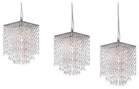 3 piece set modern crystal pendant chandelier