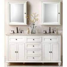 Home Decorators Collection Hamilton 61 In W X 22 In D Double Bath Vanity In Ivory With Granite Vanity Top In Grey 10806 Vs61h Dw The Home Depot