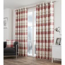 Plaid Curtains For Living Room Red Plaid Curtains