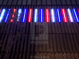 Red White And Blue Christmas Lights Red White Blue Christmas Lights Along The Side Of A