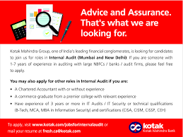 Job Internal Audit Thane Mumbai City New Delhi Banking