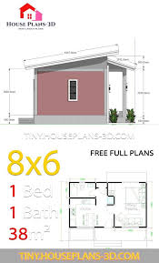 small house plans 8x6 with one bedrooms
