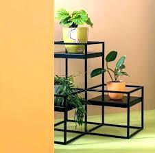 corner plant shelf wooden