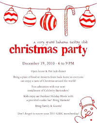 Family Christmas Invitation Wording Party Invitation Wording