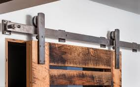 single door track system trk100 shown in silicon bronze dark re patina