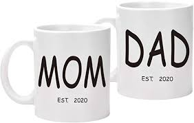 Start your day off right with a custom mug! Amazon Com Mom And Dad Coffee Mug Set Est 2020 New Parents Gifts Mom And Dad To Be Gifts For New Mot Gifts For New Mothers Gifts For New Parents Gifts For